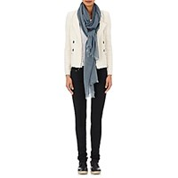 From The Road Women's Whipstitched Gauze Scarf Blue