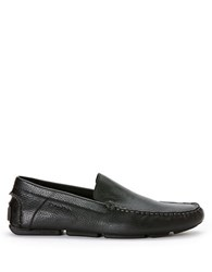 Calvin Klein Miguel Tumbled Leather Driver Moccasins Black