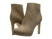 Via Spiga Bettie Dark Taupe Kid Suede Leather Women's Pull On Boots Beige
