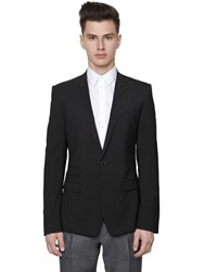 Dolce And Gabbana Stretch Wool Toile 2 Button Jacket