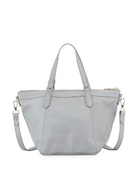 Lauren Merkin Mini Nina Leather Zip Tote Bag Taupe