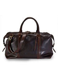 Paul Costelloe Brown Leather Holdall Brown