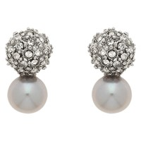 Finesse Freshwater Pearl Stud Earrings Grey