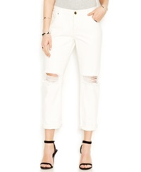 Rachel Rachel Roy Distressed Boyfriend Jeans White Wash