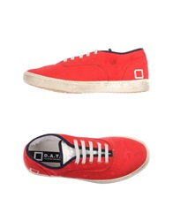 D.A.T.E. Low Tops And Trainers Red