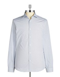 Michael Kors Dotted Button Front Sportshirt Navy