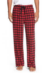 Men's Nordstrom Men's Shop Flannel Lounge Pants Red Buffalo Check