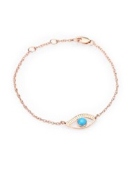 Jennifer Zeuner Jewelry Eye Bracelet Pink