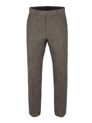 Gibson Men's Green Herringbone Trouser Green