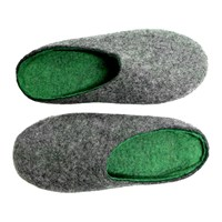 Felt Forma Men's Green Flash Wool Clogs Multi