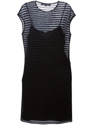 Ralph Lauren Black Label Ralph Lauren Black Open Knit Fitted Dress