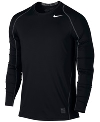 Nike Pro Cool Dri Fit Fitted Long Sleeve Shirt Black