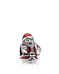 Pandora Design Pandora Charm Sterling Silver And Enamel St. Nick Moments Collection Silver Red