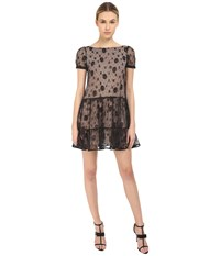Red Valentino Lace Overlay Dress Black