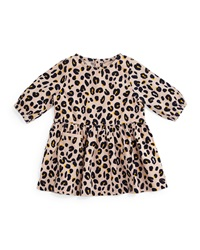 Stella Mccartney Skippy Leopard Print Corduroy Dress Pink Size 12 24 Months