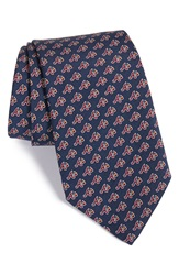 Vineyard Vines 'Atlanta Braves Mlb' Print Silk Tie Navy
