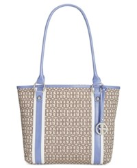 Giani Bernini Annabelle Signature Tulip Tote Only At Macy's Chambray