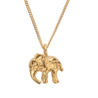 By Emily Tiny Gold Elephant Necklace