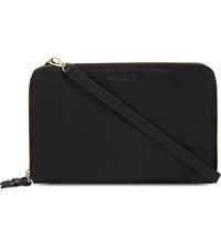 Whistles Union Leather Cross Body Bag Black