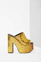 Nasty Gal Yru Dream Sequin Platform Gold