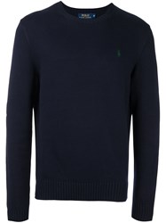 Polo Ralph Lauren Crew Neck Jumper Blue