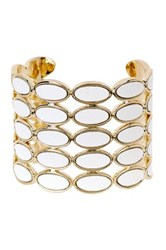 House Of Harlow Del Sol Leather Cuff White
