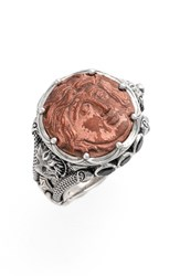 Konstantino Women's 'Aeolous' Greek Coin Ring Copper Silver