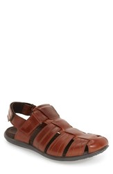 Ecco Men's 'Chander' Fisherman Sandal Cognac Leather