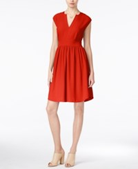 Maison Jules Cap Sleeve Fit And Flare Dress Only At Macy's Rave Red