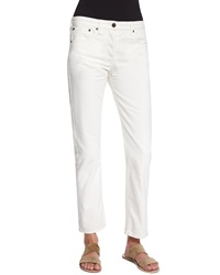 The Row Ashland Classic Five Pocket Denim Jeans White
