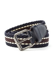 Racing Green Casual Leather Belt Navy
