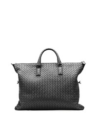 Bottega Veneta Medium Convertible Woven Tote Bag Black