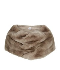 Armani Collezioni Rabbit Fur Shawl Brown