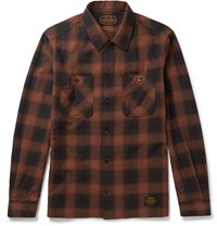 Neighborhood Slim Fit Checked Cotton Flannel Shirt Red