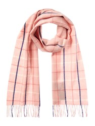 Barbour Country Tattersall Scarf Pink