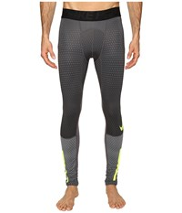 Nike Pro Hyperwarm Tight Cool Grey Dark Grey Volt Men's Casual Pants Gray