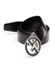 Giorgio Armani Smooth Leather Belt Black