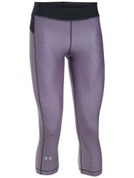Under Armour Heatgear Printed 18 Running Capris Purple