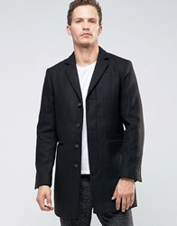 Selected Homme Overcoat Black