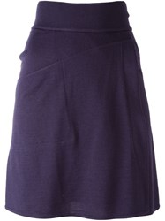 Alaa A Vintage Knit Skater Skirt Pink And Purple
