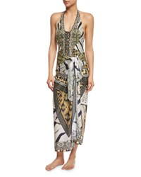 Camilla Weave Of The Wild Long Printed Sarong Coverup