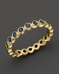 Temple St. Clair 18K Gold Eternity Ring With Blue Sapphires Gold Blue