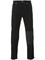 Mcq By Alexander Mcqueen Contrast Panel Jeans Black