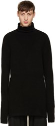 Thamanyah Black And White High Neck Sweater