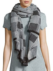 Fraas Cashmere And Virgin Wool Scarf Charcoal