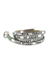 Good Work S Make A Difference Wrap Around Metallic Leather Bracelet