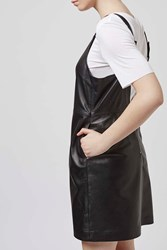 Leather Pinafore Dress By Boutique Black