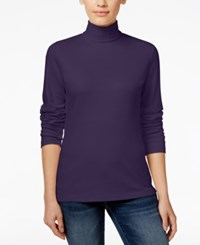 Karen Scott Long Sleeve Turtleneck Only At Macy's Cassis