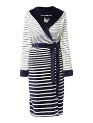 Dickins And Jones Graduated Stripe Robe Navy