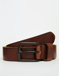 Royal Republiq Leather Legacy Belt In Brown Brown